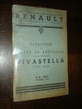 CATALOGUE PIECES DE RECHANGE - Renault Vivastella Type ACR - 1935