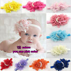 Baby Girl's Big Rose Flower Headband Princess Hairband Gift Accessories 13Colors