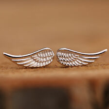 925 Sterling Silver Studs Earrings Angel Wings Pendants Handcraft With Gift Box