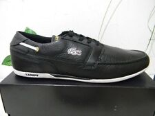 Lacoste Men's Black White Lace Sneakers with Logo Shoes Size US 13 EU 12 NEW