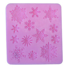 3D Silicone Xmas Snowflake Fondant Mould Cake Chocolate Sugarcraft Mold Cutter