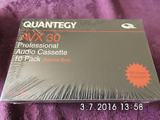 10 x QUANTEGY AVX 30 PROFESSIONAL HIGH SPEED CASSETTE TAPES
