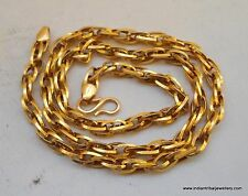 traditional design 20k gold chain necklace rajasthan india