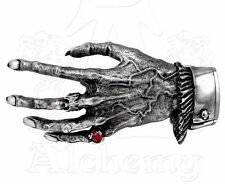 Nosferatu's Hand Vampire Skeleton Gothic Pewter Belt Buckle B24 Alchemy Red Ring