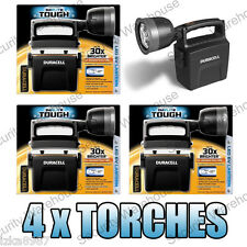4 x TOUGH BRIGHT LED Hunting CAMPING TORCH Fishing LANTERN Flash Light WORK LAMP