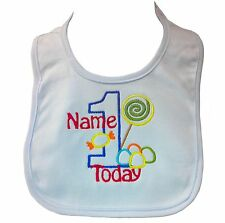 Personalised Embroidered Baby Boy's First 1st Birthday Bib