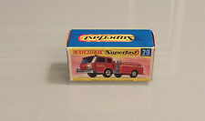 Matchbox Superfast Rare Nr.29 Fire Pumper Truck nur OVP