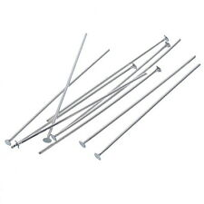 1000 Silver Plated Head Pins Findings 28x0.5mm
