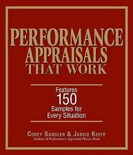 NEW Performance Appraisals That Work: Features 150 Samples            for $9.99