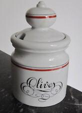 Pot à olives en porcelaine d'Auteuil Bistrot orange Jacques Labjoy Paris France