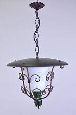 Lanterna da esterno in ferro e vetro Vintage
