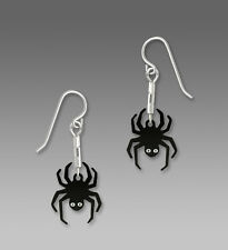 Sienna Sky Hanging SPIDER EARRINGS STERLING Silver Halloween Fall Dangle - Boxed