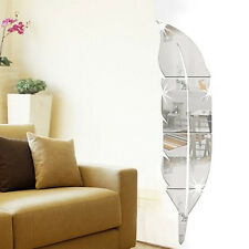 silver Removable Home Mirror nice  Wall Stickers Decal Art Vinyl Room Decor DIY