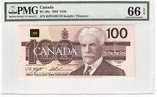 Canada $100 Dollars Banknote 1988 BC-60c PMG GEM UNC 66 EPQ