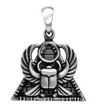 Egyptian Scarab Pyramid Double Pendant Necklace Jewelry Egypt Culture