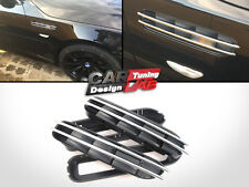 (2) Replacement Chrome Black Side Grill Grille Fender Vents Fits BMW E60 E61 E39