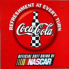 Coca Cola Coke Nascar Decal Large 16x16 MINT