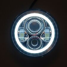 "Harley Davidson Street Glide 7"" LED White Headlight with Halo Daymaker FLHX"