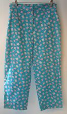 Lilly Pulitzer Aqua Blue / Pink Capri/Cropped Pants Sz10 fish turtles