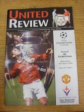 15/03/2000 Manchester United v FIORENTINA Champions League []. l'oggetto in ottime