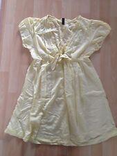 Haut femme taille l jaune tunique/robe de seulement