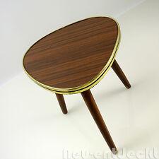 Beistelltisch Nierentisch 60 er Tisch 50er Hocker Holz Tischchen Blumenbank D142