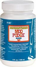 MOD PODGE 8oz BRUSHSTROKE GLOSS TEXTURED FINISH WATER BASED SEALER GLUE VARNISH