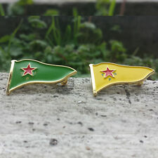 YPG YPJ Kurdistan Metal Flag Lapel Pin Badge Rozet 1 lot (1 pcs YPG + 1 pcs YPJ)