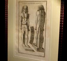 [EGYPTE EGYPTOLOGIE GRAVURE] MONTFAUCON - Divinité égyptienne colossale. 1720.