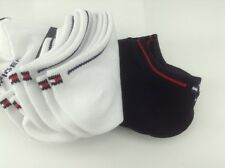Women's TOMMY HILFIGER White Black COTTON Socks - 6 Pack - $36 MSRP - 30% off