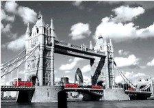 3D Effect Lenticular Printing Moving Picture Wall Decor *London-Tower Bridge*