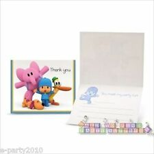 POCOYO THANK YOU NOTES (8) ~ 1st Birthday Party Supplies Stationery Pato Elly