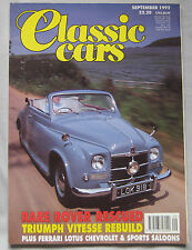 Classic Cars 09/1992 featuring Chevrolet Camaro, Rover P4, Bitter, Ford, Triumph