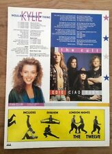 KYLIE MINOGUE / The CULT lyrics magazine PHOTO/Poster/Clipping 11x8 inch