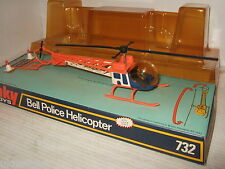 Rare Vintage Dinky 732 Bell Police Helicopter in Original Dinky Blister Box.