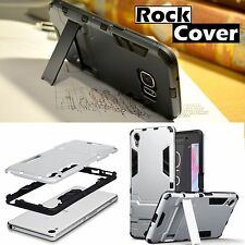 Sony Xperia X Compact Rugged Armour Tech 2 Survival Case Rock Cover Silver