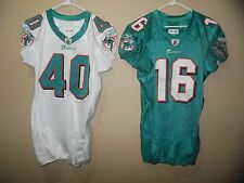 MIAMI DOLPHINS GAME USED  NFL FOOTBALL JERSEY