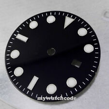 31.3mm black super lume Watch Dial for Mingzhu 2813 Movement 23