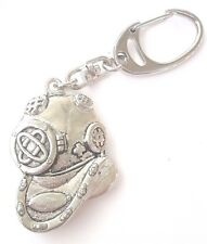 Diving Helmet Handcrafted from Solid Pewter In the UK Key Ring