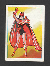 The Scarlet Witch 1981 Marvel Comics Superhero Card from Spain