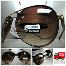 Men or Women CLASSIC VINTAGE RETRO Style SUN GLASSES SHADES Bronze & Gold Frame