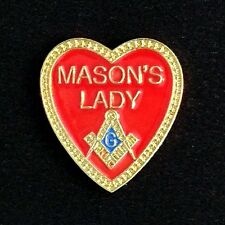 "Masonic ""Mason's Lady"" Lapel Pin (ML-1)"