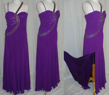 UNIQUE PROM COCKTAIL DRESS HOMECOMING EVENING FORMAL GOWN  Purple LG Fit 10