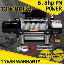 13000lb 12Volt Electric Winch Recovery With Wireless Remote Kit ATV 4WD Truck