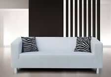 Vicco Sofa 3-Sitzer Couch PU Leder 183x85cm weiß