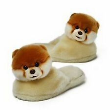 "GUND POMERANIAN DOG -  BOO 9"" SLIPPERS  - JOINTED HEAD -  RETIRED"