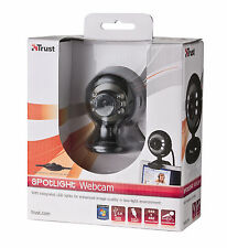 TRUST 16429 SPOTLIGHT WEBCAM, microfono integrato, le luci + DIMMER, clip