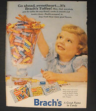 1956 BRACH'S Toffee~Jelly Nougats~nut Goodies Candy Memorabilia Trade Print Ad