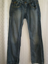 KILLAH SIXTY RAY FLAKE LEATHER STUD JEANS SIZE 32 HOT RARE UNIQUE