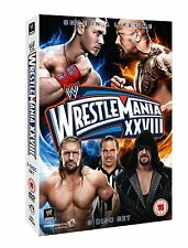WWE WrestleMania 28 XXVIII 3er [DVD] DEUTSCH NEU Hall Of Fame 2012 Rock vs. Cena